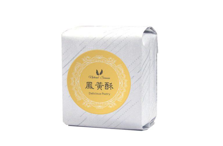 斜紋鋁箔棉袋+鳳凰酥圓型貼紙