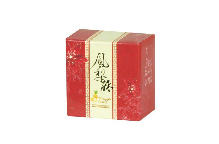 鳳梨酥盒型-花舞