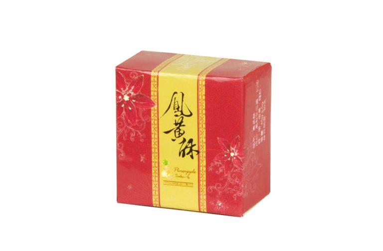 鳳黃酥盒型-花舞